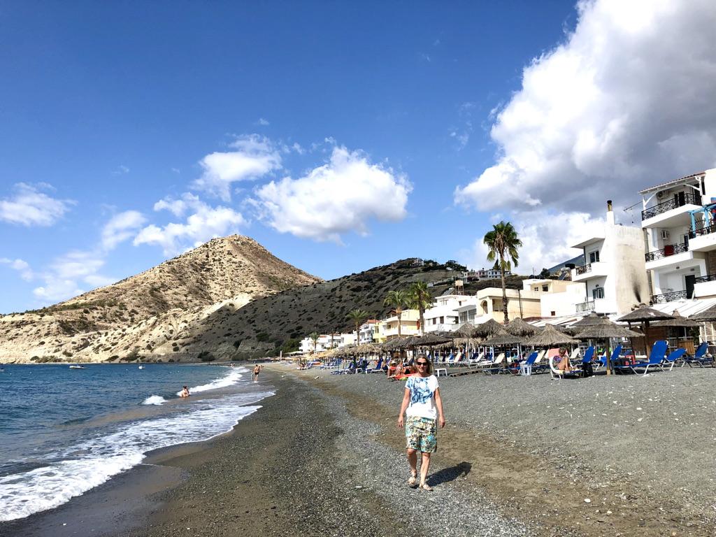 Am Strand von Mírtos