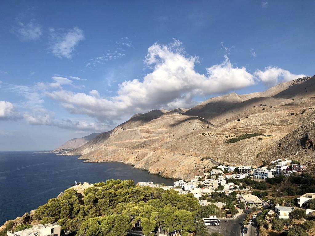 Blick zurück auf Chóra Sfakíon