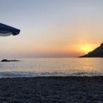 Sunset am Vrissí Beach