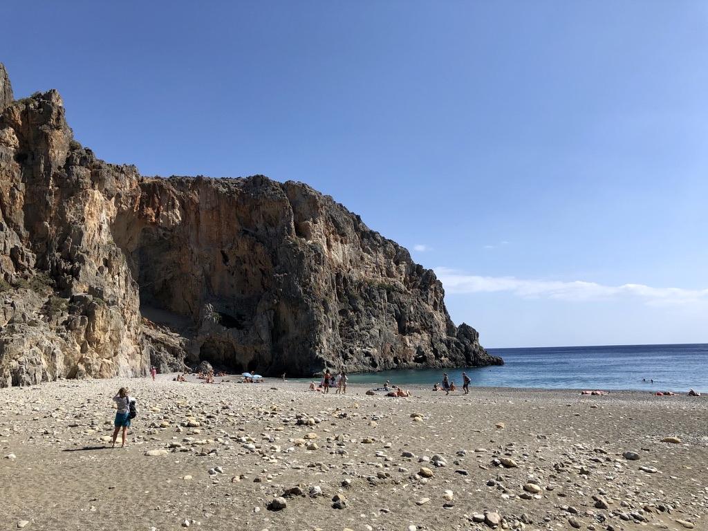Strand am Ende der Agiofárango-Schlucht